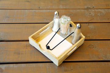 cutlery on a decorative tray