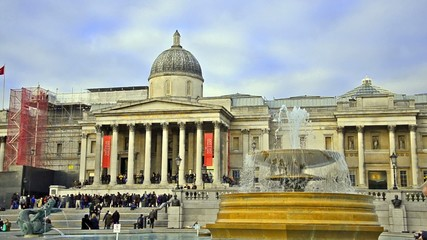 London National Gallery and Trafalgar Square