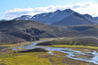 Постер, плакат: Пейзажи Исландии горы реки и озера