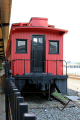 Red Vintage Train at Pittsburg
