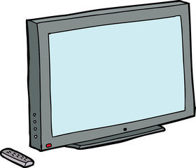 Isolated TV with Remote