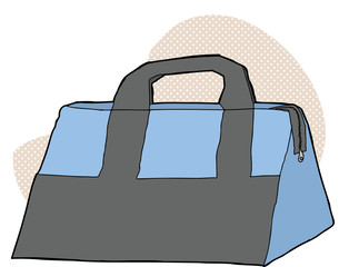 Blue and Gray Bag