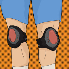 Human Legs with Knee Pads