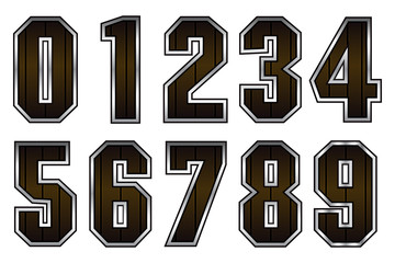 Abstract Numbers Font