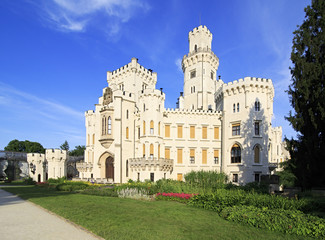 Beautiful Hluboka Castle in Czech Republic.