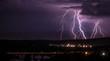Leinwanddruck Bild - Lightning storm