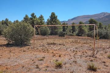 Cage de but terrain de football