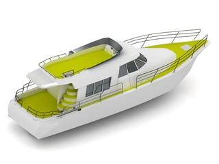 motorized pleasure boat