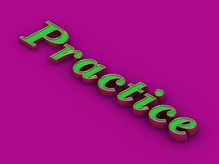 Practice - inscription of golden letters