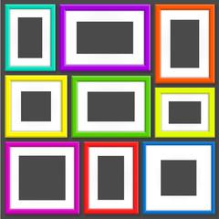 Set Of Colorful Photo Frames