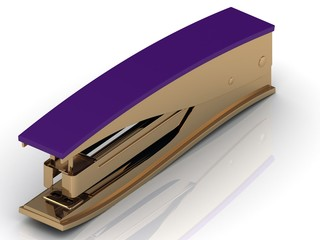 Stapler with a lilac handle