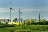 Krajobraz wiejski, Wiatraki, Energia, Ekologia