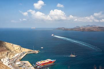 Seascape. Port of Santorini