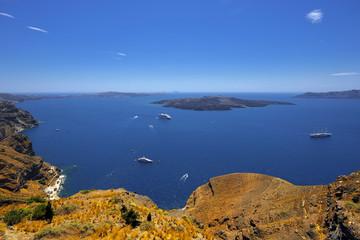 Santorini, Grecja, morze egiejskie