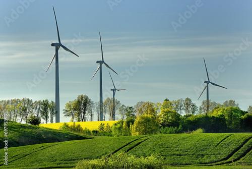 Krajobraz wiejski, Wiatraki, Energia, Ekologia - 69795393