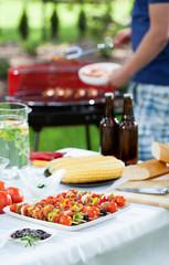 Barbecue in a garden