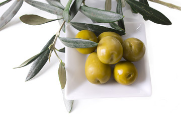 olives on the table