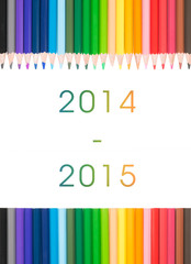 Colored pencil with text : 2014 2015