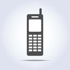 Phone retro icon gray colors