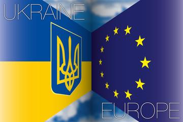 ukraine vs europe flags
