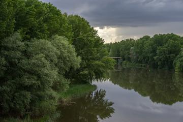 Rio Ebro a su paso por Logroño