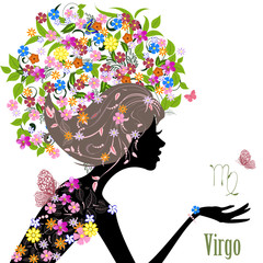 Zodiac sign virgo. fashion girl