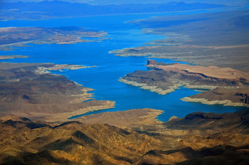Mojave desert and lake