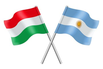 Flags: Hungary and Argentina