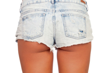 Sexy woman body in jean shorts