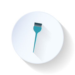 Brush for painting hair flat icon