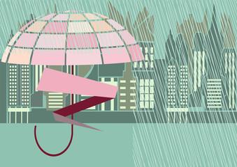 rain storm street