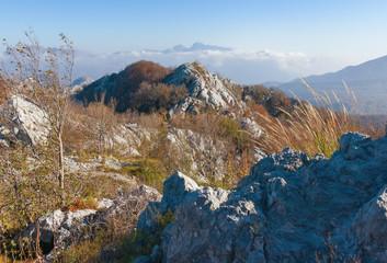 Rocky terrain. Montenegro