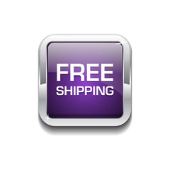 Free Shipping Glossy Shiny Rounded Corner Vector Button