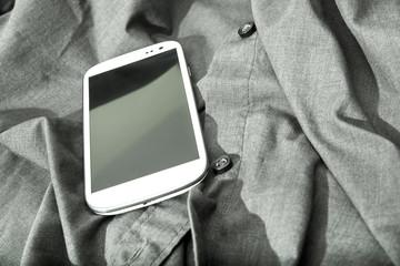 Smartphone auf Kleidung