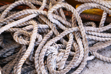 old boat's rope