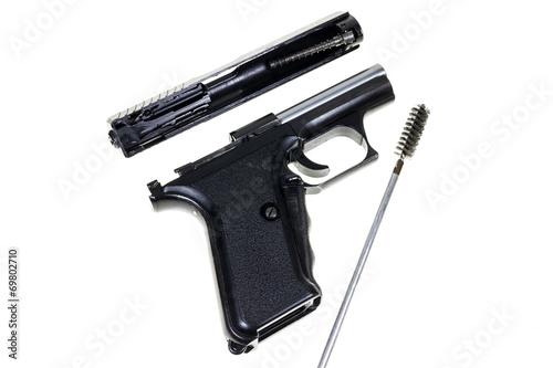 Fotobehang Jacht Cleaning the Gun