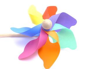 カラフルな風車