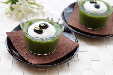 Matcha Green Tea Jelly