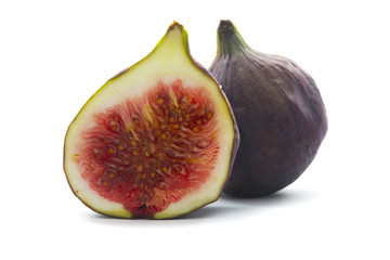 cut fig isolated