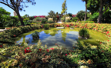 a little pond in palazzo parisio (malta)