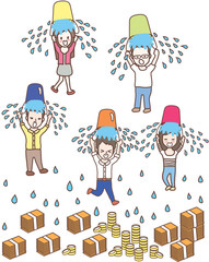 ice bucket challenge cute vector