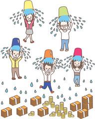 ice bucket challenge cute vector