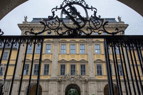Leinwandbild Motiv juliusspital in wuerzburg germany