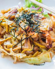 Japanese stir fried noodle or Yakisoba