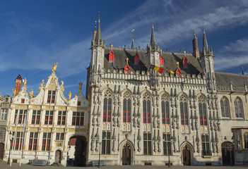 The Town Hall in Bruges (Belgium)