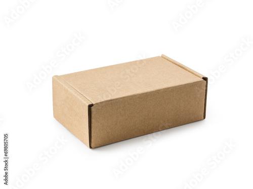 canvas print picture Closed cardboard box