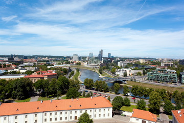 Aerial View of Vilnius with Financial District Snipiskes