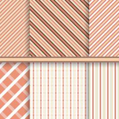 Retro stripes seamless patterns - set of vector textures