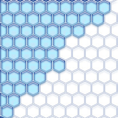 Cells blue white. Isolated