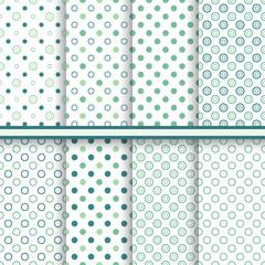 Set of eleganet polka dot seamless patterns - vector texture